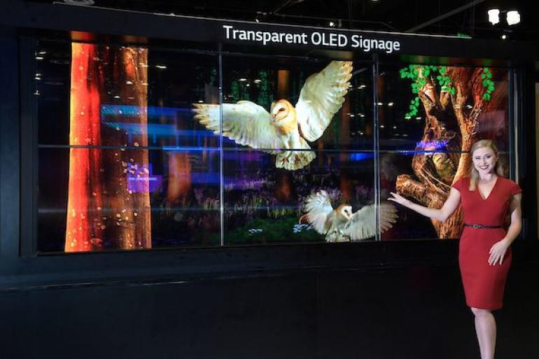 LG, 美서 투명 올레드·마이크로 LED 사이니지 공개