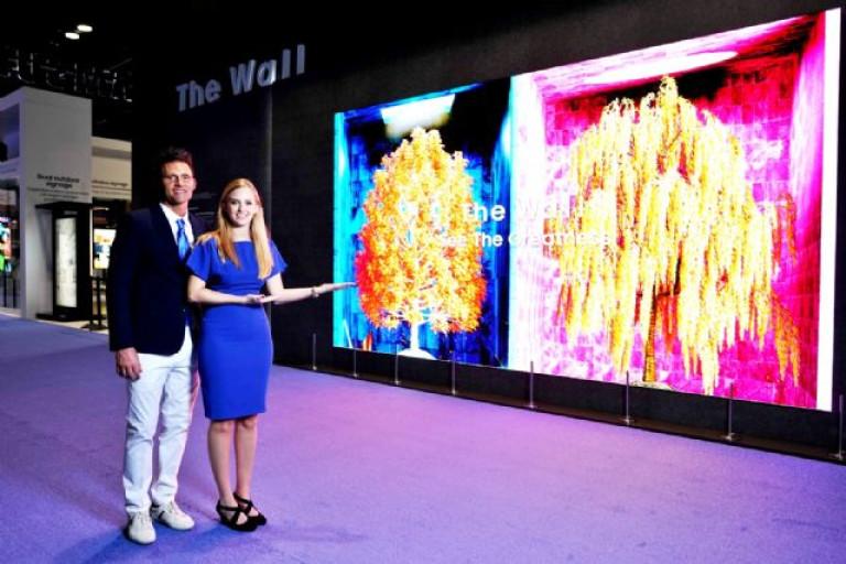 삼성 홈 시네마용 '더 월 럭셔리' 글로벌 출시