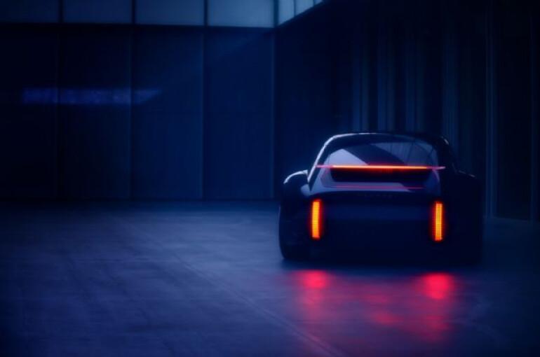 현대차, 공기저항 줄인 EV 콘셉트카 '프로페시' 티저 공개